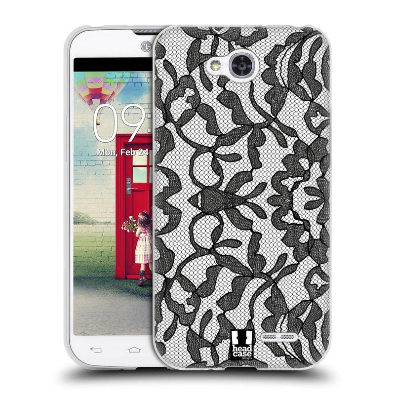 Silikonové pouzdro na mobil LG L90 HEAD CASE LEAFY KRAJKA (Silikonový kryt či obal na mobilní telefon LG L90 D405n)