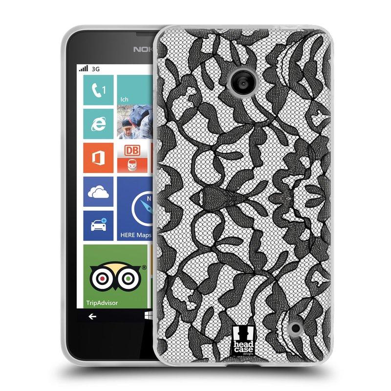 Silikonové pouzdro na mobil Nokia Lumia 630 HEAD CASE LEAFY KRAJKA (Silikonový kryt či obal na mobilní telefon Nokia Lumia 630 a Nokia Lumia 630 Dual SIM)