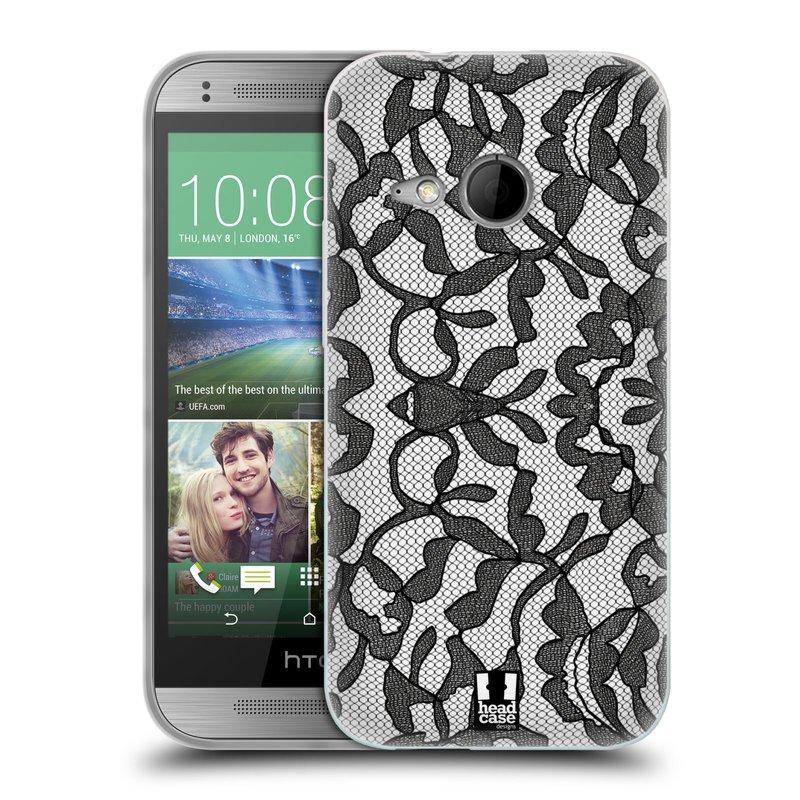 Silikonové pouzdro na mobil HTC ONE Mini 2 HEAD CASE LEAFY KRAJKA (Silikonový kryt či obal na mobilní telefon HTC ONE Mini 2)