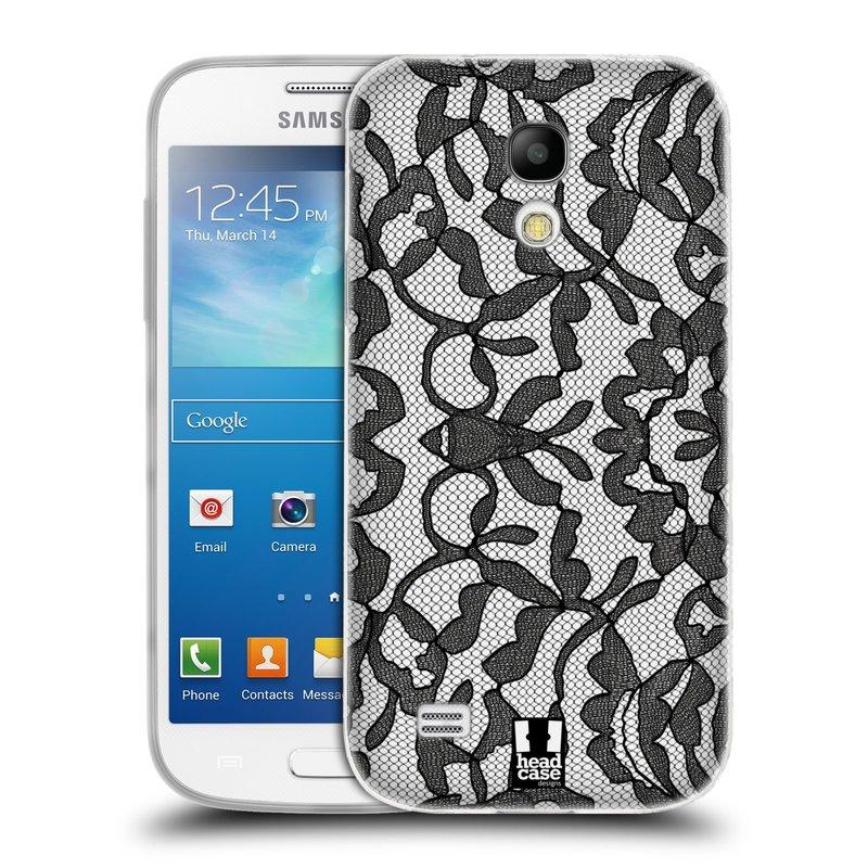 Silikonové pouzdro na mobil Samsung Galaxy S4 Mini HEAD CASE LEAFY KRAJKA (Silikonový kryt či obal na mobilní telefon Samsung Galaxy S4 Mini GT-i9195 / i9190)