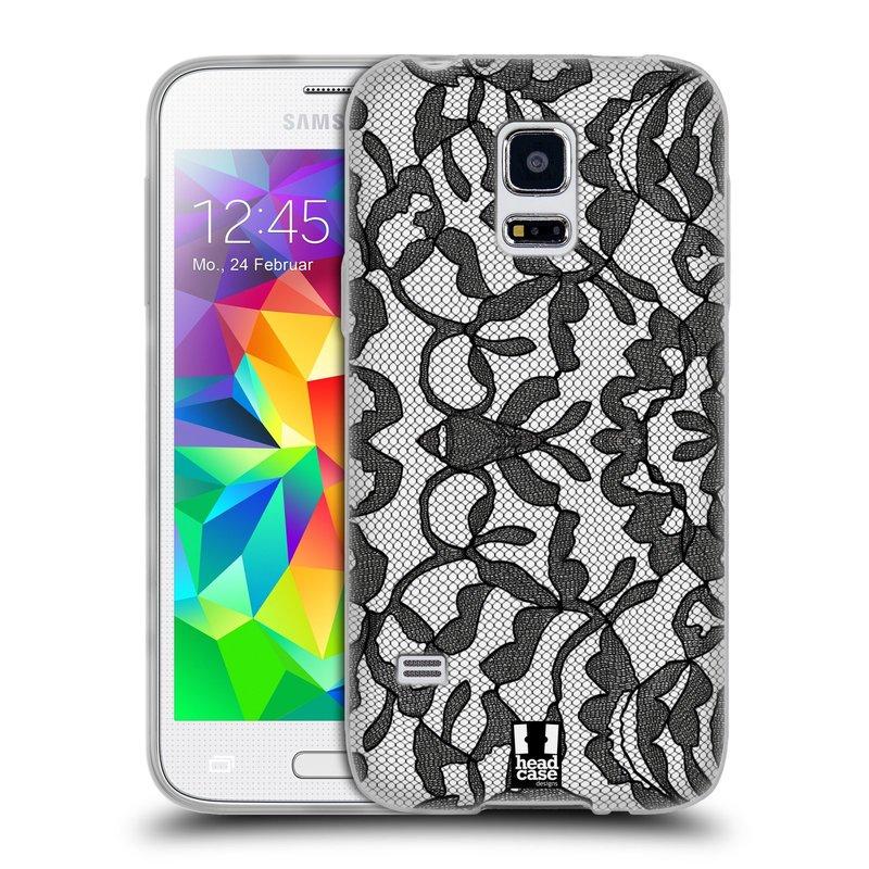 Silikonové pouzdro na mobil Samsung Galaxy S5 Mini HEAD CASE LEAFY KRAJKA (Silikonový kryt či obal na mobilní telefon Samsung Galaxy S5 Mini SM-G800F)