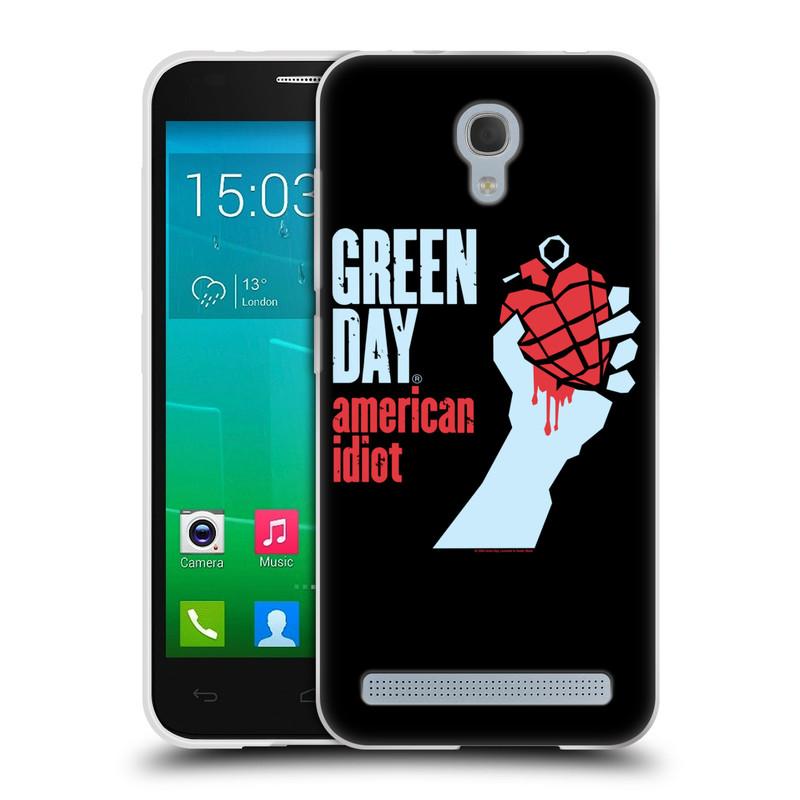 Silikonové pouzdro na mobil Alcatel One Touch Idol 2 Mini S 6036Y HEAD CASE Green Day - American Idiot (Silikonový kryt či obal na mobilní telefon licencovaným motivem Green Day pro Alcatel Idol 2 Mini S OT-6036Y)
