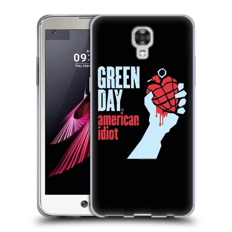 Silikonové pouzdro na mobil LG X Screen HEAD CASE Green Day - American Idiot (Silikonový kryt či obal na mobilní telefon licencovaným motivem Green Day pro LG X Screen K500N)