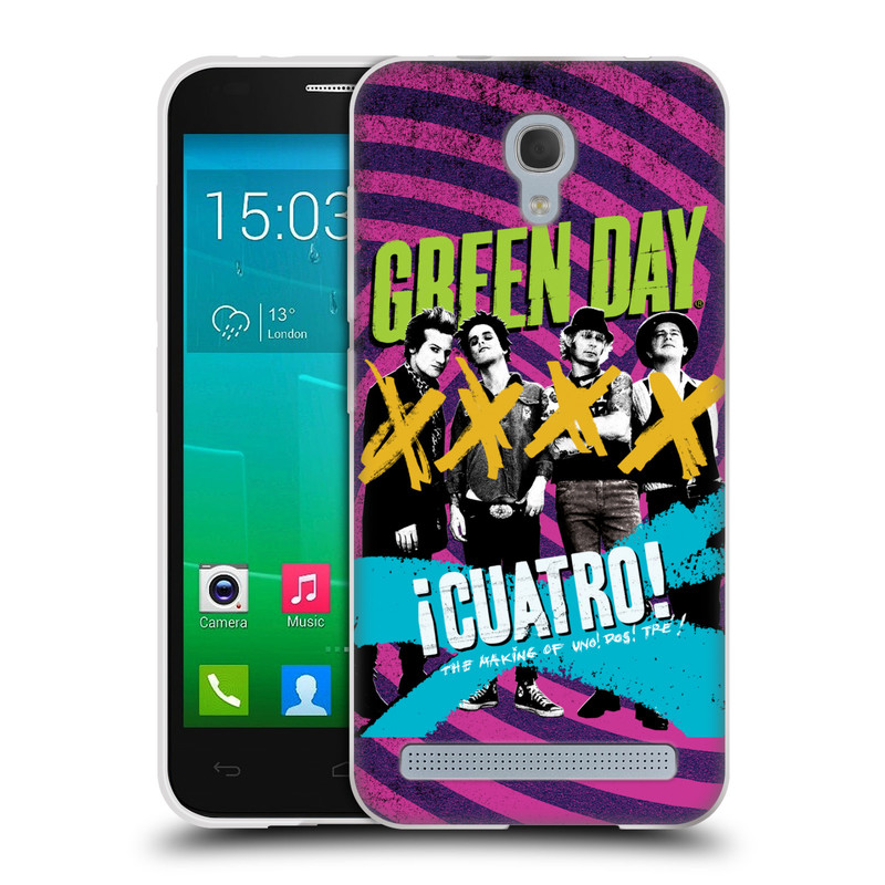 Silikonové pouzdro na mobil Alcatel One Touch Idol 2 Mini S 6036Y HEAD CASE Green Day - Cuatro (Silikonový kryt či obal na mobilní telefon licencovaným motivem Green Day pro Alcatel Idol 2 Mini S OT-6036Y)