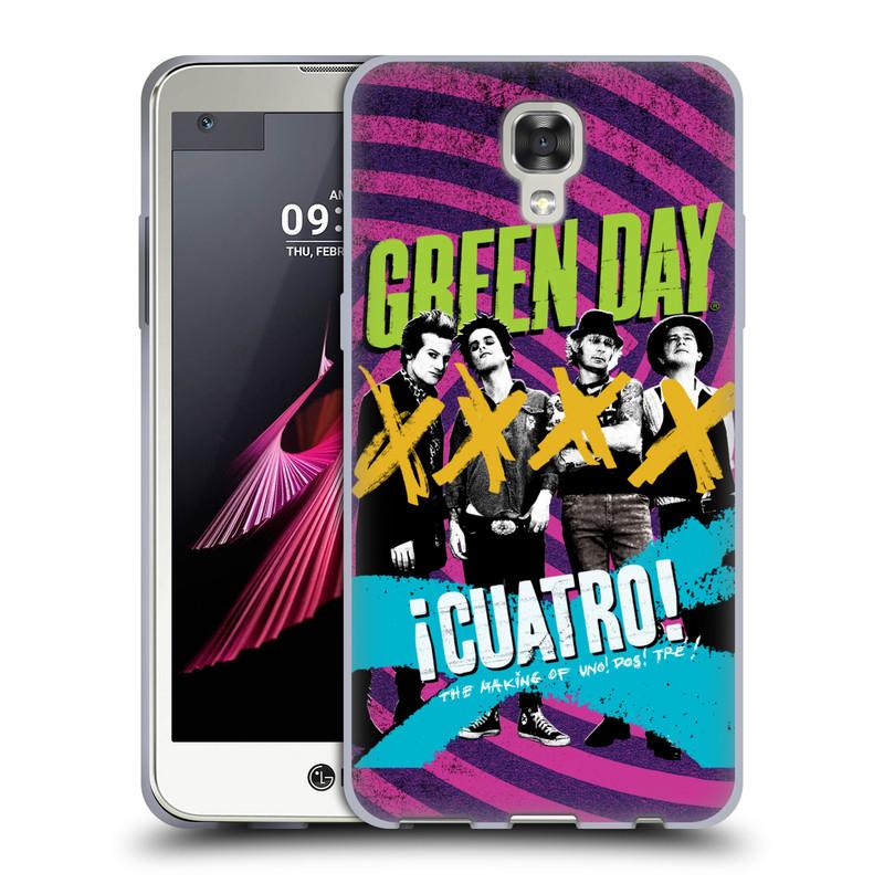 Silikonové pouzdro na mobil LG X Screen HEAD CASE Green Day - Cuatro (Silikonový kryt či obal na mobilní telefon licencovaným motivem Green Day pro LG X Screen K500N)