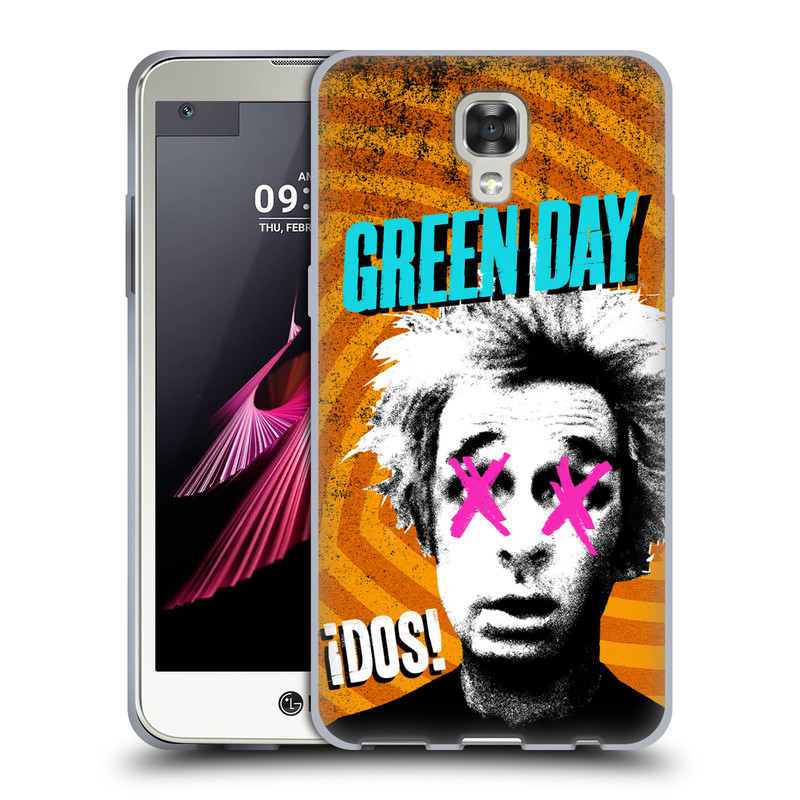 Silikonové pouzdro na mobil LG X Screen HEAD CASE Green Day - Dos (Silikonový kryt či obal na mobilní telefon licencovaným motivem Green Day pro LG X Screen K500N)