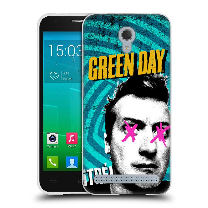 Silikonové pouzdro na mobil Alcatel One Touch Idol 2 Mini S 6036Y HEAD CASE Green Day - Tré (Silikonový kryt či obal na mobilní telefon licencovaným motivem Green Day pro Alcatel Idol 2 Mini S OT-6036Y)