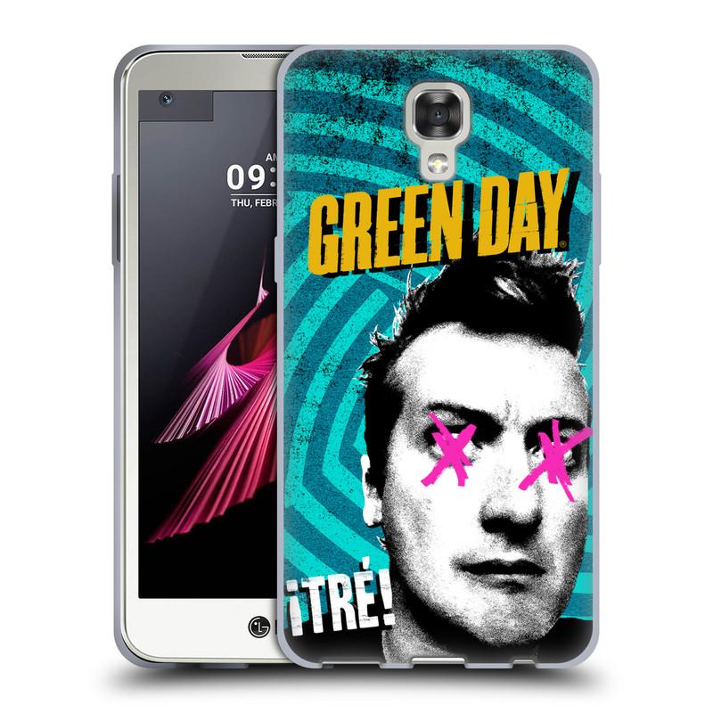 Silikonové pouzdro na mobil LG X Screen HEAD CASE Green Day - Tré (Silikonový kryt či obal na mobilní telefon licencovaným motivem Green Day pro LG X Screen K500N)