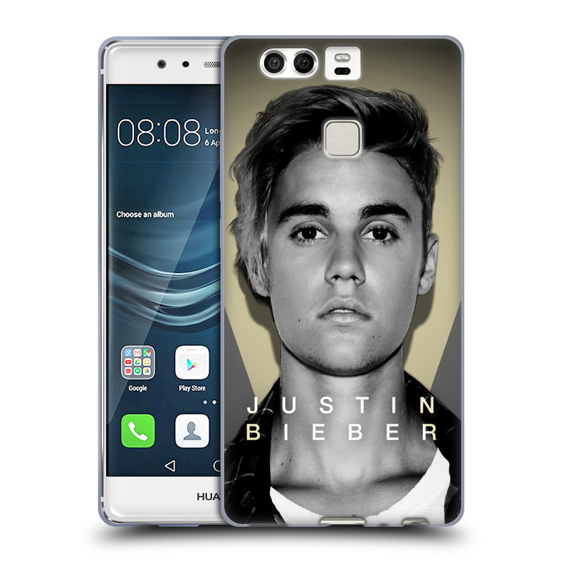 Silikonové pouzdro na mobil Huawei P9 HEAD CASE Justin Bieber Official - Head Shot (Silikonový kryt či obal na mobilní telefon s licencovaným motivem Justin Bieber pro Huawei P9)