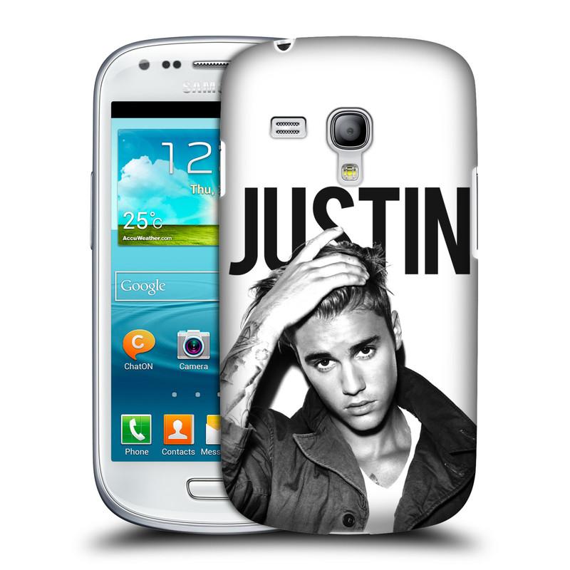 Plastové pouzdro na mobil Samsung Galaxy S III Mini VE HEAD CASE Justin Bieber Official - Póza (Kryt či obal na mobilní telefon s licencovaným motivem Justin Bieber pro Samsung Galaxy S3 Mini VE GT-i8200)