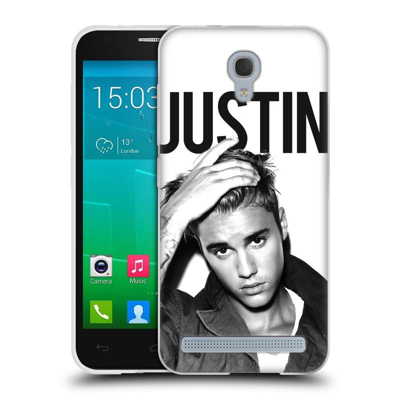 Silikonové pouzdro na mobil Alcatel One Touch Idol 2 Mini S 6036Y HEAD CASE Justin Bieber Official - Póza (Silikonový kryt či obal na mobilní telefon s licencovaným motivem Justin Bieber pro Alcatel Idol 2 Mini S OT-6036Y)