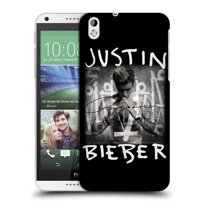 Plastové pouzdro na mobil HTC Desire 816 HEAD CASE Justin Bieber Official - Purpose (Kryt či obal na mobilní telefon s licencovaným motivem Justin Bieber pro HTC Desire 816)