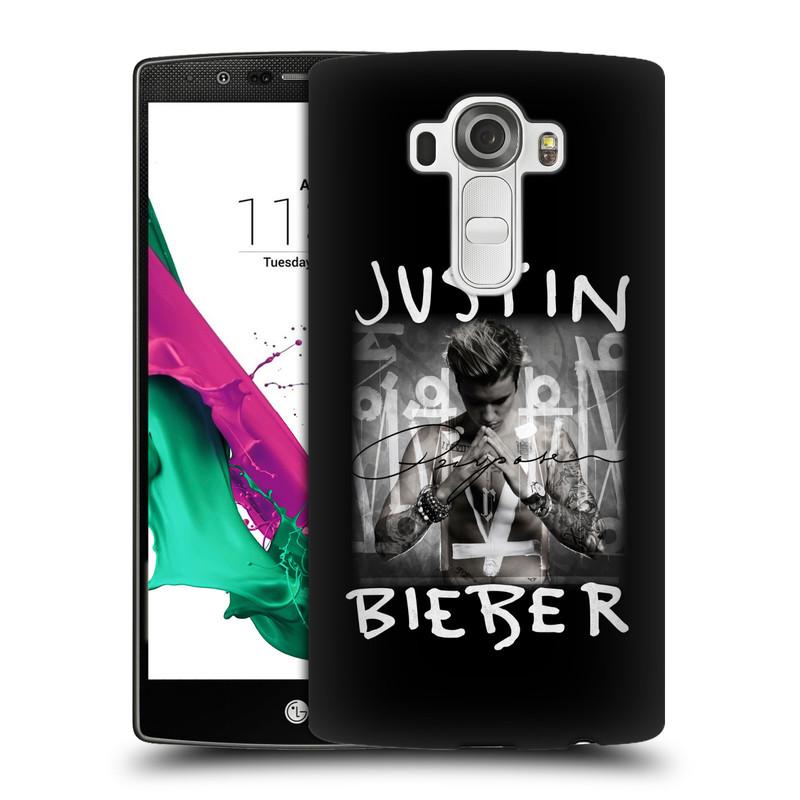 Plastové pouzdro na mobil LG G4 HEAD CASE Justin Bieber Official - Purpose (Kryt či obal na mobilní telefon s licencovaným motivem Justin Bieber pro LG G4)