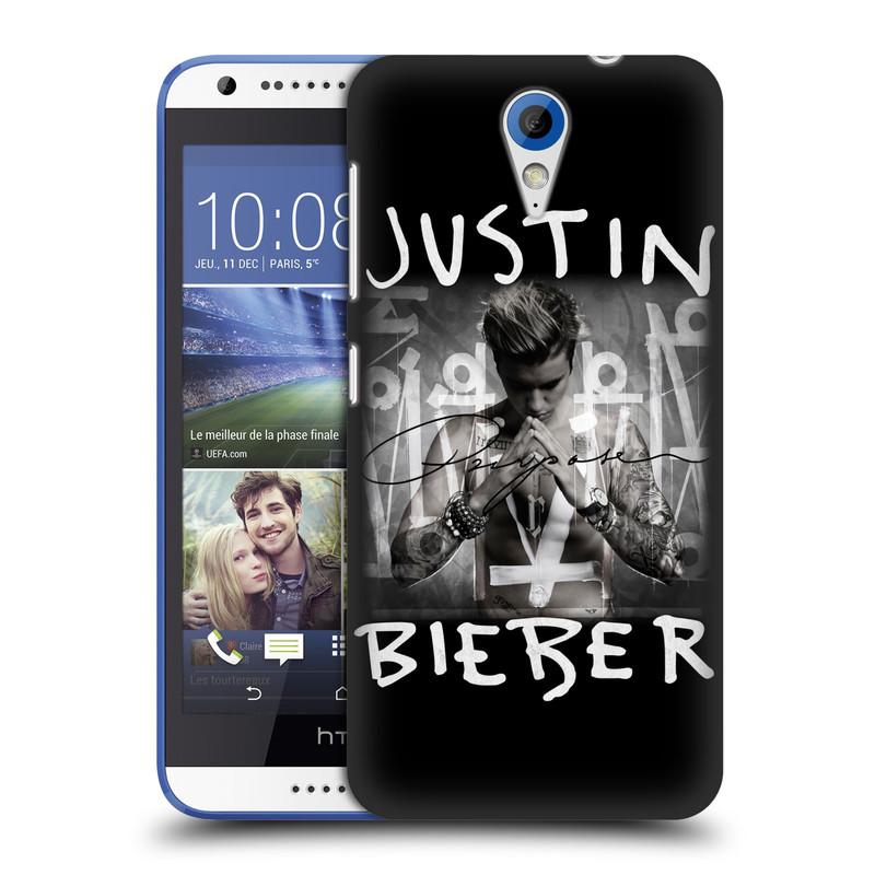 Plastové pouzdro na mobil HTC Desire 620 HEAD CASE Justin Bieber Official - Purpose (Kryt či obal na mobilní telefon s licencovaným motivem Justin Bieber pro HTC Desire 620)