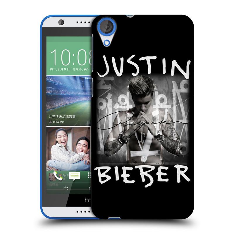 Plastové pouzdro na mobil HTC Desire 820 HEAD CASE Justin Bieber Official - Purpose (Kryt či obal na mobilní telefon s licencovaným motivem Justin Bieber pro HTC Desire 820)