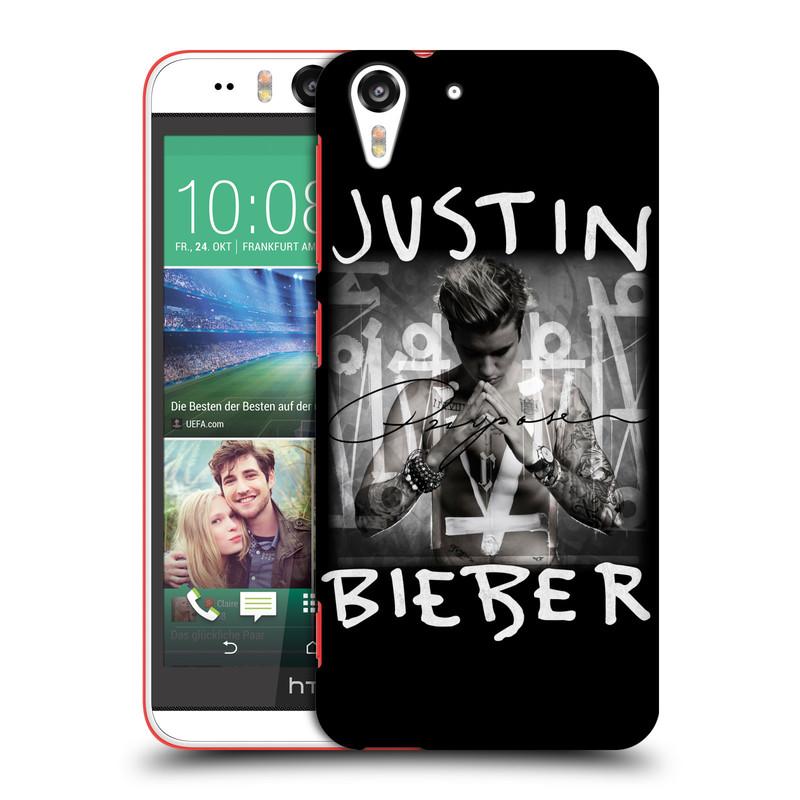 Plastové pouzdro na mobil HTC Desire EYE HEAD CASE Justin Bieber Official - Purpose (Kryt či obal na mobilní telefon s licencovaným motivem Justin Bieber pro HTC Desire EYE)