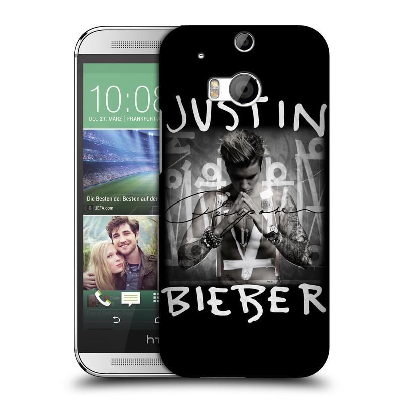 Plastové pouzdro na mobil HTC ONE M8 HEAD CASE Justin Bieber Official - Purpose (Kryt či obal na mobilní telefon s licencovaným motivem Justin Bieber pro HTC ONE M8)