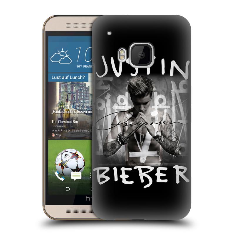 Plastové pouzdro na mobil HTC ONE M9 HEAD CASE Justin Bieber Official - Purpose (Kryt či obal na mobilní telefon s licencovaným motivem Justin Bieber pro HTC ONE M9)