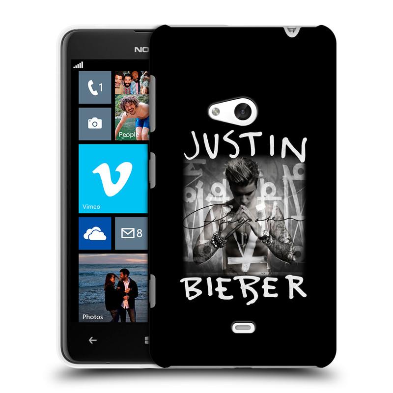 Plastové pouzdro na mobil Nokia Lumia 625 HEAD CASE Justin Bieber Official - Purpose (Kryt či obal na mobilní telefon s licencovaným motivem Justin Bieber pro Nokia Lumia 625)