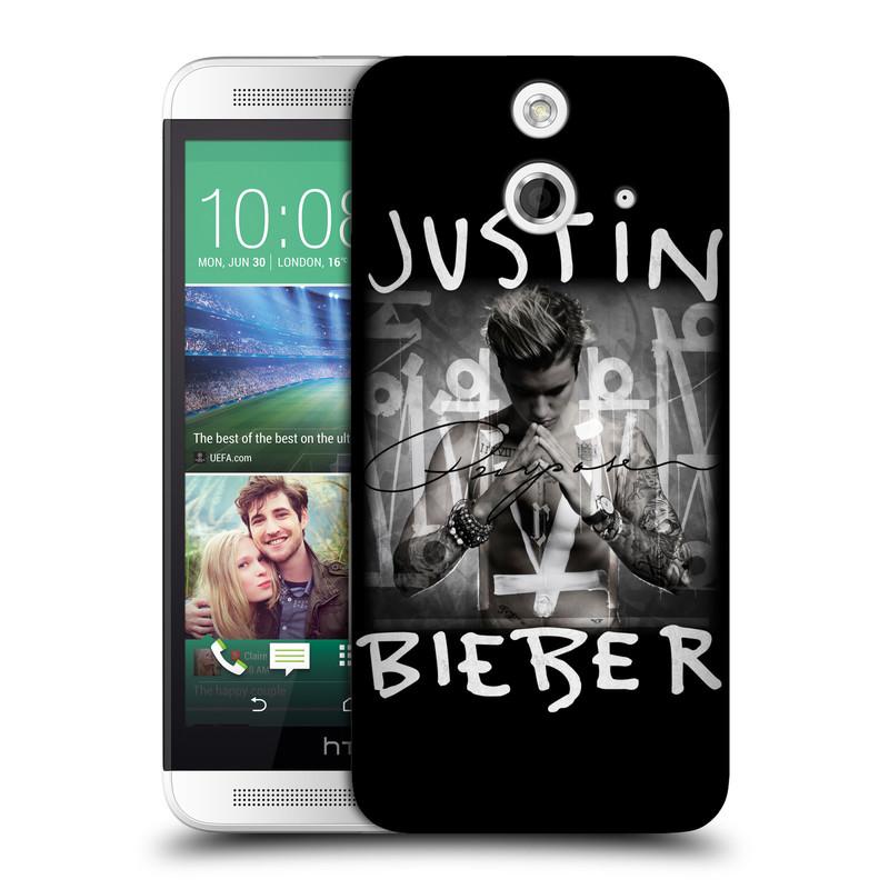 Plastové pouzdro na mobil HTC ONE E8 HEAD CASE Justin Bieber Official - Purpose (Kryt či obal na mobilní telefon s licencovaným motivem Justin Bieber pro HTC ONE E8)