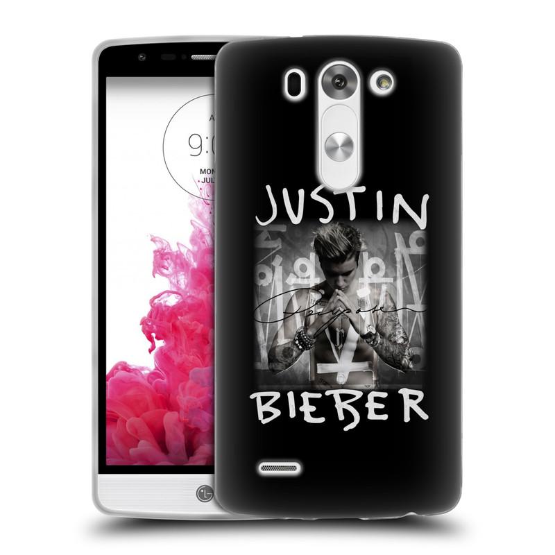 Silikonové pouzdro na mobil LG G3s HEAD CASE Justin Bieber Official - Purpose (Silikonový kryt či obal na mobilní telefon s licencovaným motivem Justin Bieber pro LG G3s)