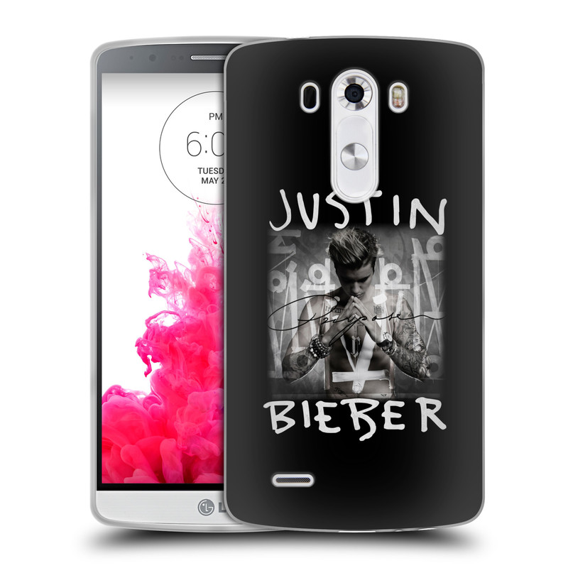 Silikonové pouzdro na mobil LG G3 HEAD CASE Justin Bieber Official - Purpose (Silikonový kryt či obal na mobilní telefon s licencovaným motivem Justin Bieber pro LG G3)