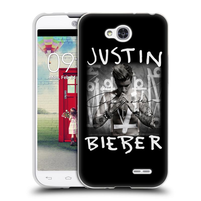 Silikonové pouzdro na mobil LG L90 HEAD CASE Justin Bieber Official - Purpose (Silikonový kryt či obal na mobilní telefon s licencovaným motivem Justin Bieber pro LG L90 D405n)