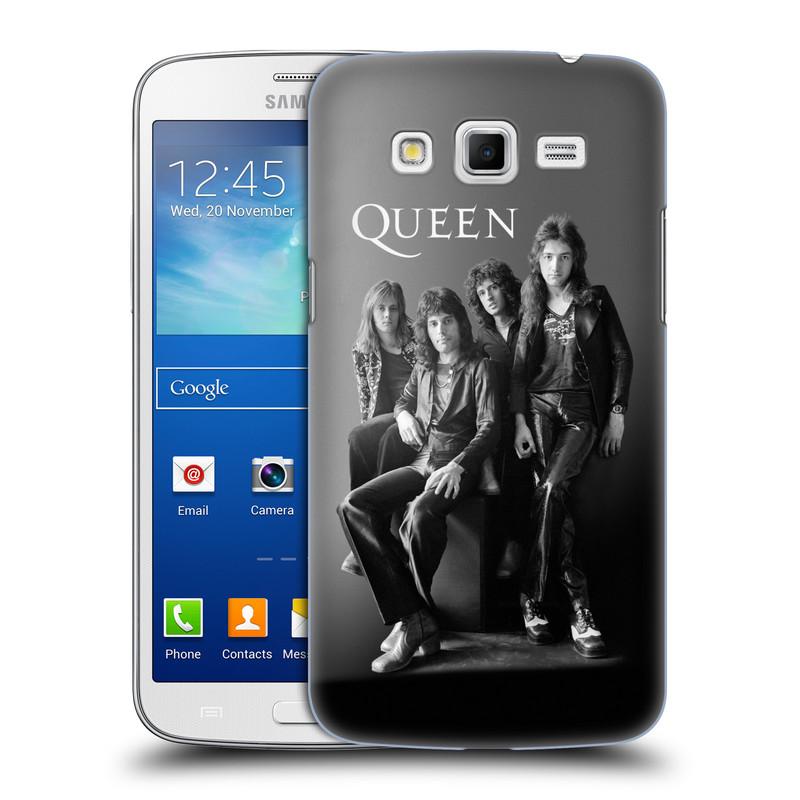 Plastové pouzdro na mobil Samsung Galaxy Grand 2 HEAD CASE Queen - Skupina (Plastový kryt či obal na mobilní telefon licencovaným motivem Queen pro Samsung Galaxy Grand 2 LTE SM-G7105F a Samsung Galaxy Grand 2 Duos SM-G7102F)