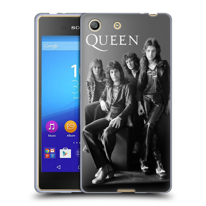 Silikonové pouzdro na mobil Sony Xperia M5 HEAD CASE Queen - Skupina (Silikonový kryt či obal na mobilní telefon licencovaným motivem Queen pro Sony Xperia M5 Dual SIM / Aqua)