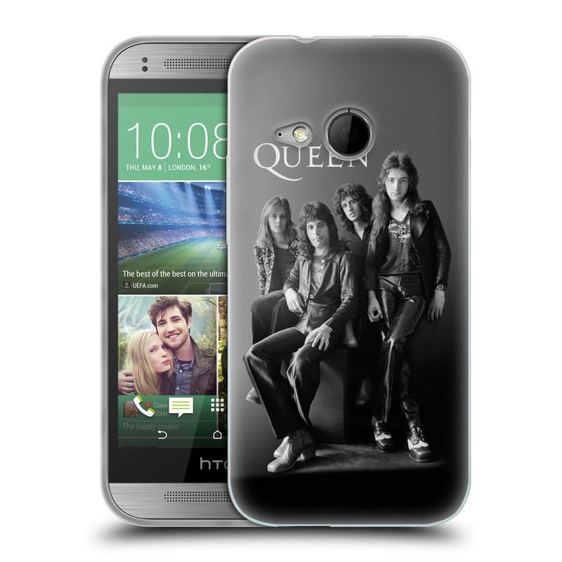 Silikonové pouzdro na mobil HTC ONE Mini 2 HEAD CASE Queen - Skupina (Silikonový kryt či obal na mobilní telefon licencovaným motivem Queen pro HTC ONE Mini 2)