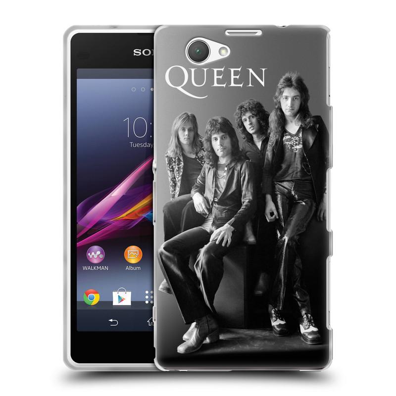 Silikonové pouzdro na mobil Sony Xperia Z1 Compact D5503 HEAD CASE Queen - Skupina (Silikonový kryt či obal na mobilní telefon licencovaným motivem Queen pro Sony Xperia Z1 Compact)