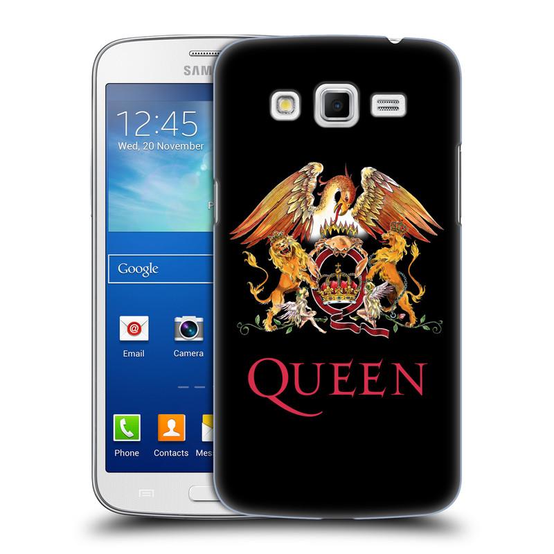 Plastové pouzdro na mobil Samsung Galaxy Grand 2 HEAD CASE Queen - Logo (Plastový kryt či obal na mobilní telefon licencovaným motivem Queen pro Samsung Galaxy Grand 2 LTE SM-G7105F a Samsung Galaxy Grand 2 Duos SM-G7102F)