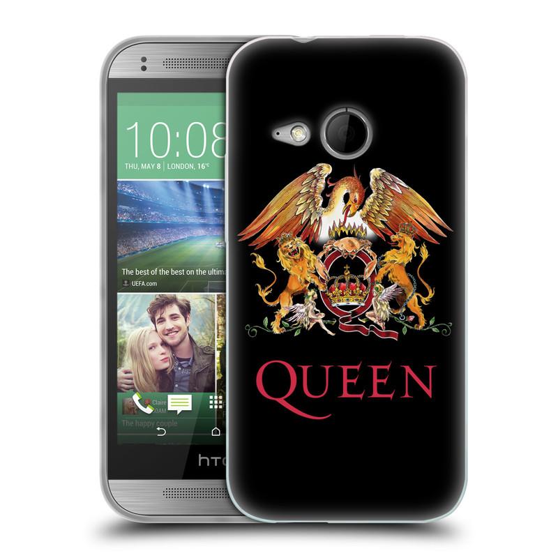 Silikonové pouzdro na mobil HTC ONE Mini 2 HEAD CASE Queen - Logo (Silikonový kryt či obal na mobilní telefon licencovaným motivem Queen pro HTC ONE Mini 2)