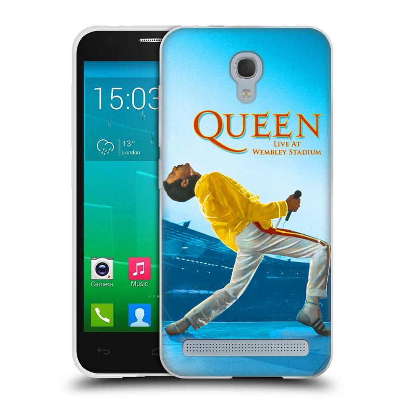 Silikonové pouzdro na mobil Alcatel One Touch Idol 2 Mini S 6036Y HEAD CASE Queen - Freddie Mercury (Silikonový kryt či obal na mobilní telefon licencovaným motivem Queen pro Alcatel Idol 2 Mini S OT-6036Y)