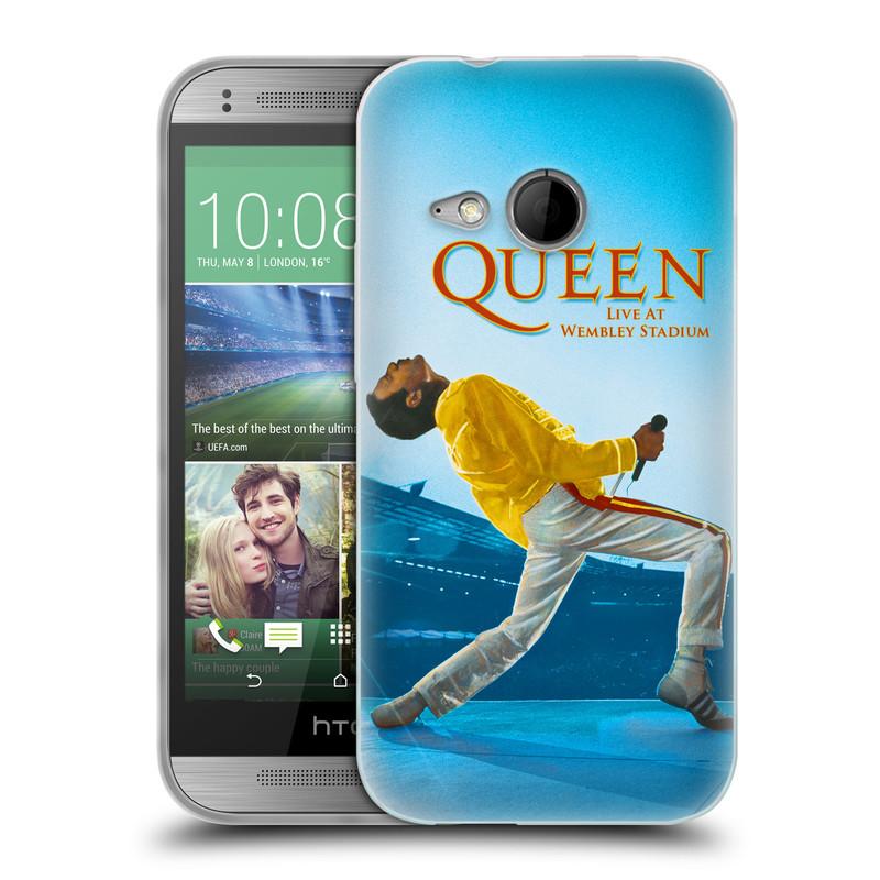 Silikonové pouzdro na mobil HTC ONE Mini 2 HEAD CASE Queen - Freddie Mercury (Silikonový kryt či obal na mobilní telefon licencovaným motivem Queen pro HTC ONE Mini 2)