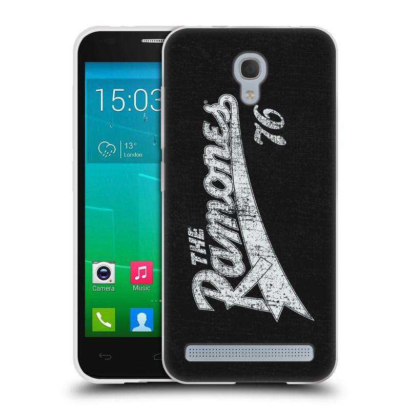 Silikonové pouzdro na mobil Alcatel One Touch Idol 2 Mini S 6036Y HEAD CASE The Ramones - TEAM 76 (Silikonový kryt či obal na mobilní telefon s oficiálním licencovaným motivem The Ramones pro Alcatel Idol 2 Mini S OT-6036Y)