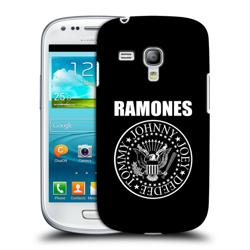 Silikonové pouzdro na mobil Samsung Galaxy S III Mini VE HEAD CASE The Ramones - PRESIDENTIAL SEAL (Plastový kryt či obal na mobilní telefon s oficiálním licencovaným motivem The Ramones pro Samsung Galaxy S3 Mini VE GT-i8200)
