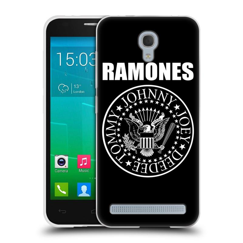 Silikonové pouzdro na mobil Alcatel One Touch Idol 2 Mini S 6036Y HEAD CASE The Ramones - PRESIDENTIAL SEAL (Silikonový kryt či obal na mobilní telefon s oficiálním licencovaným motivem The Ramones pro Alcatel Idol 2 Mini S OT-6036Y)