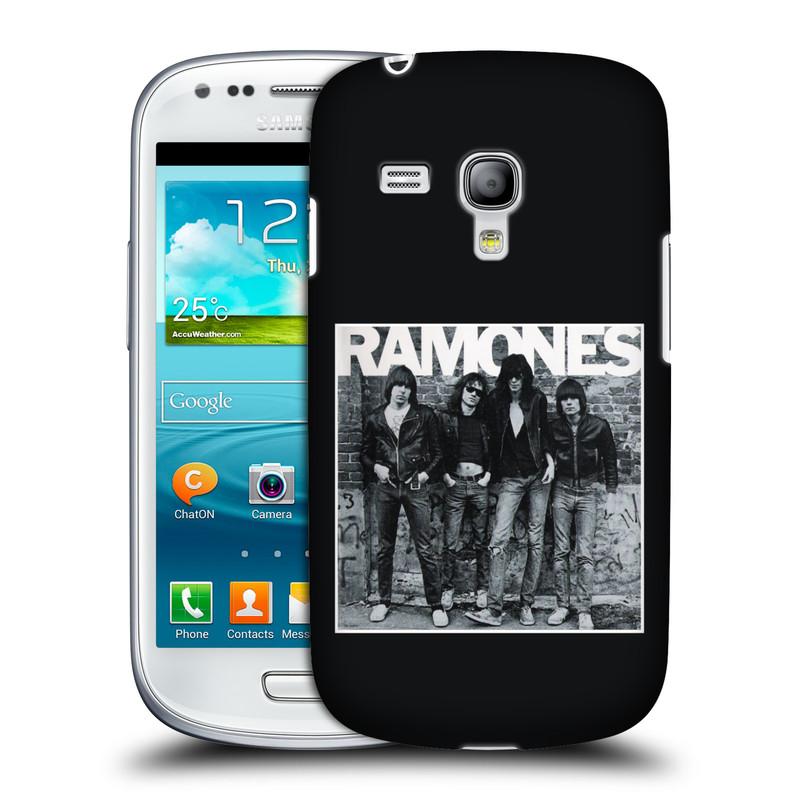 Silikonové pouzdro na mobil Samsung Galaxy S III Mini VE HEAD CASE The Ramones - ALBUM (Plastový kryt či obal na mobilní telefon s oficiálním licencovaným motivem The Ramones pro Samsung Galaxy S3 Mini VE GT-i8200)