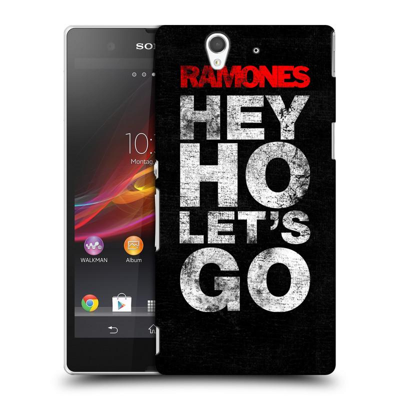 Plastové pouzdro na mobil Sony Xperia Z C6603 HEAD CASE The Ramones - HEY HO LET´S GO (Plastový kryt či obal na mobilní telefon s oficiálním licencovaným motivem The Ramones pro Sony Xperia Z)