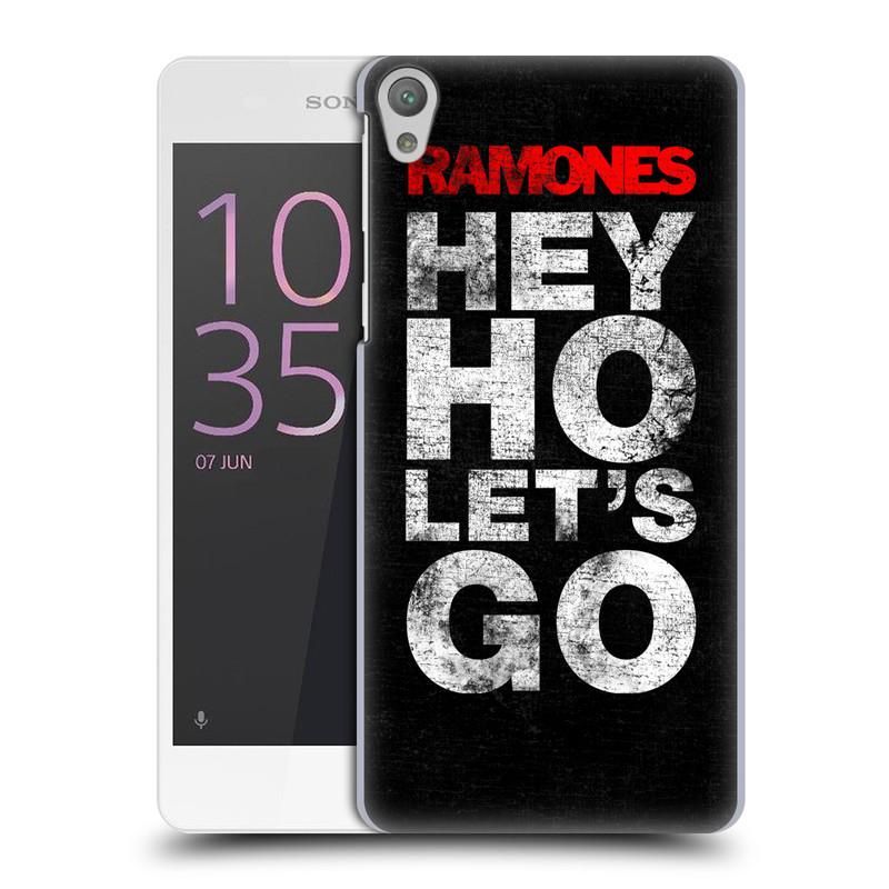 Plastové pouzdro na mobil Sony Xperia E5 HEAD CASE The Ramones - HEY HO LET´S GO (Plastový kryt či obal na mobilní telefon s oficiálním licencovaným motivem The Ramones pro Sony Xperia E5 F3311)