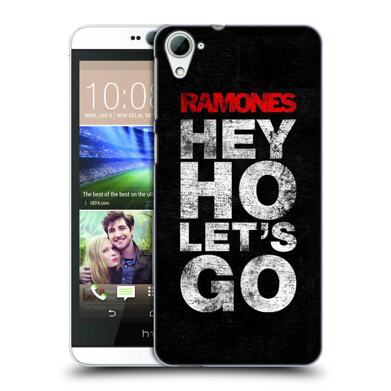 Plastové pouzdro na mobil HTC Desire 826 HEAD CASE The Ramones - HEY HO LET´S GO (Plastový kryt či obal na mobilní telefon s oficiálním licencovaným motivem The Ramones pro HTC Desire 826 Dual SIM)