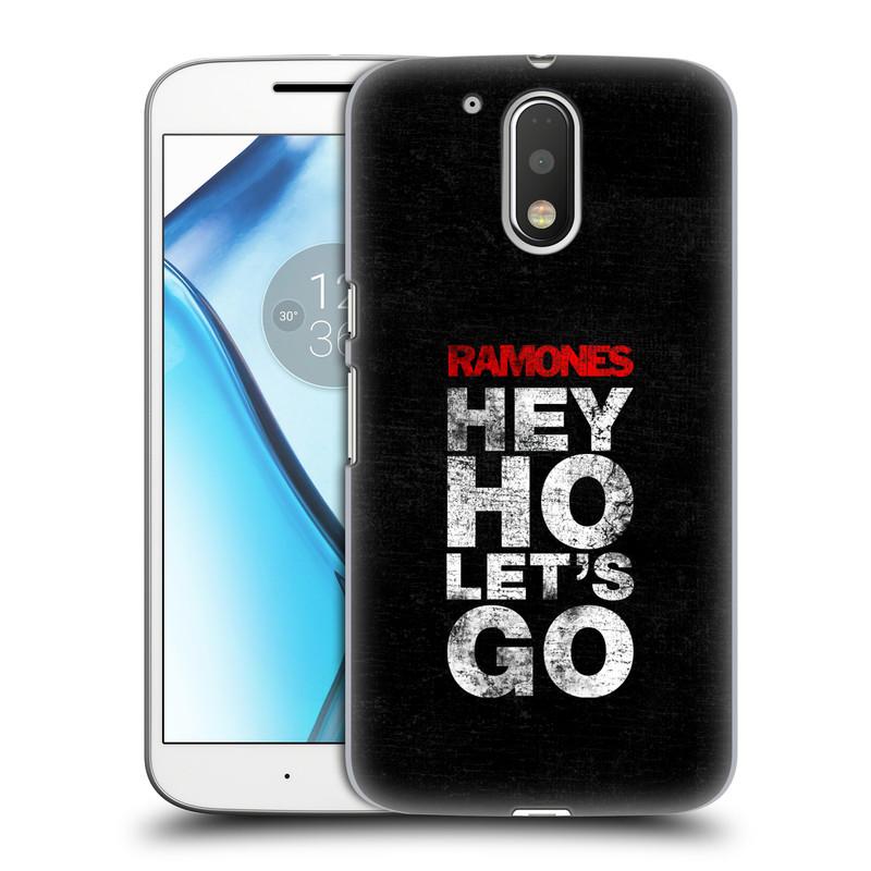 Plastové pouzdro na mobil Lenovo Moto G4 HEAD CASE The Ramones - HEY HO LET´S GO (Plastový kryt či obal na mobilní telefon s oficiálním licencovaným motivem The Ramones pro Lenovo Moto G4 (Single a Dual SIM))