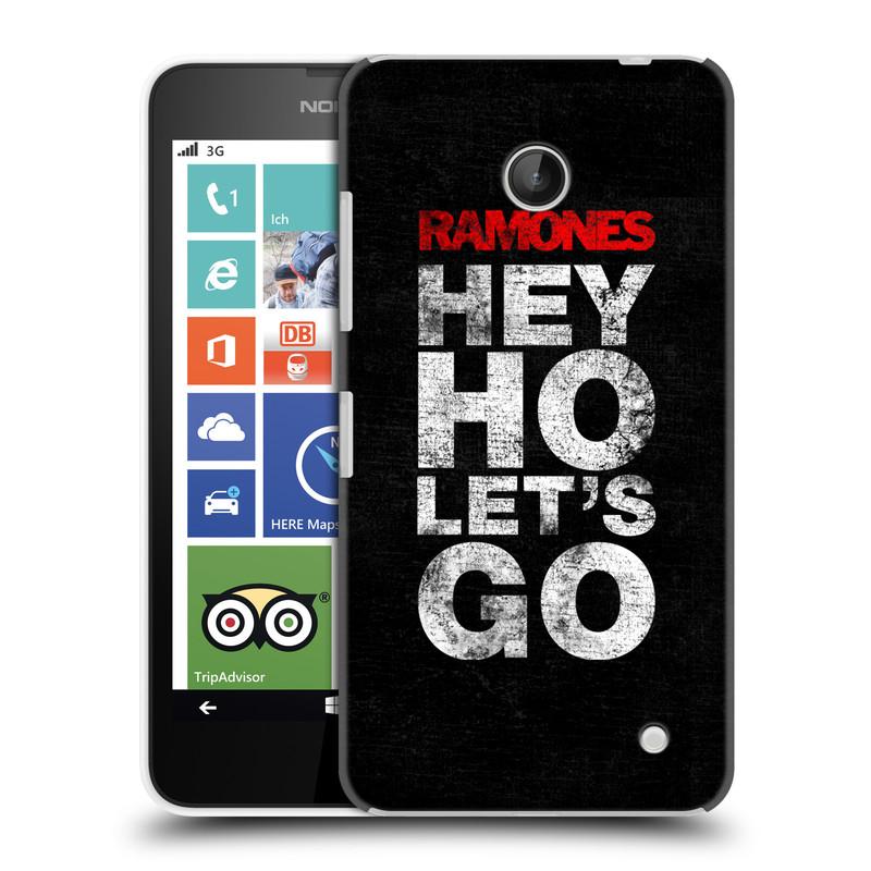 Plastové pouzdro na mobil Nokia Lumia 630 HEAD CASE The Ramones - HEY HO LET´S GO (Plastový kryt či obal na mobilní telefon s oficiálním licencovaným motivem The Ramones pro Nokia Lumia 630 a Nokia Lumia 630 Dual SIM)
