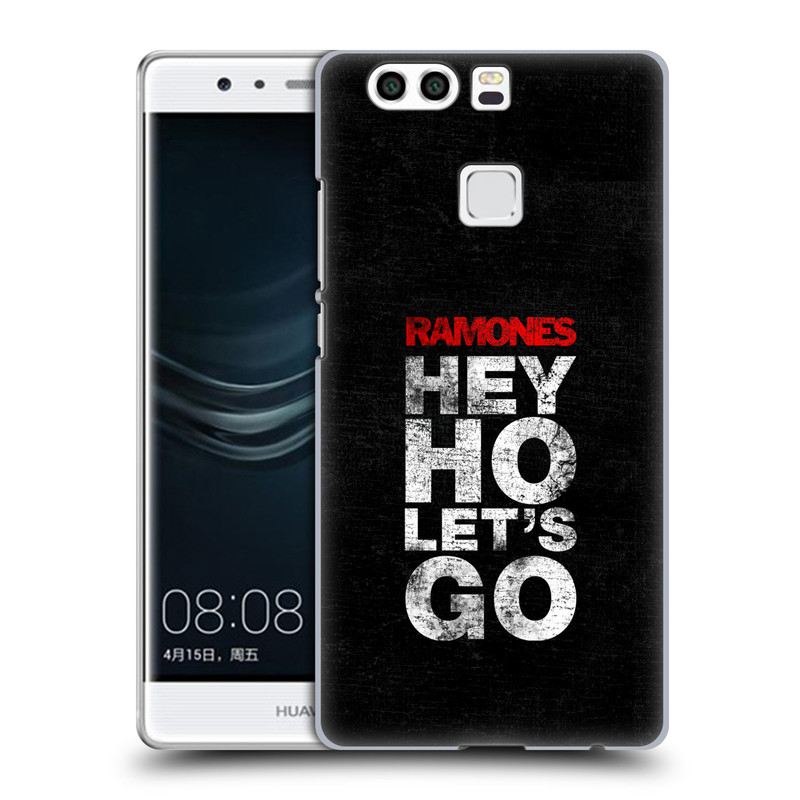 Plastové pouzdro na mobil Huawei P9 Plus HEAD CASE The Ramones - HEY HO LET´S GO (Plastový kryt či obal na mobilní telefon s oficiálním licencovaným motivem The Ramones pro Huawei P9 Plus / Huawei P9 Plus Dual SIM)