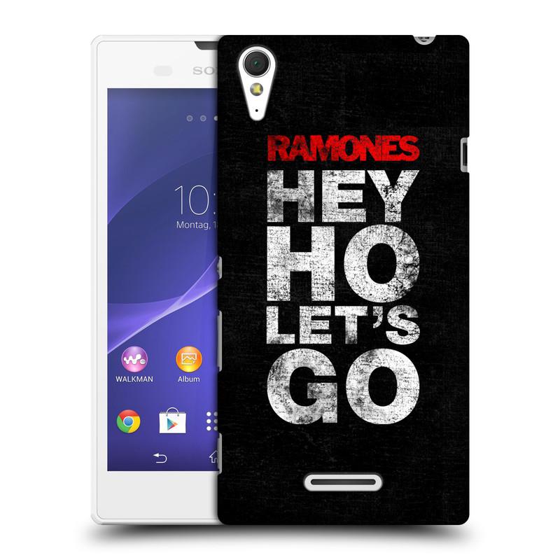 Plastové pouzdro na mobil Sony Xperia T3 D5103 HEAD CASE The Ramones - HEY HO LET´S GO (Plastový kryt či obal na mobilní telefon s oficiálním licencovaným motivem The Ramones pro Sony Xperia T3)