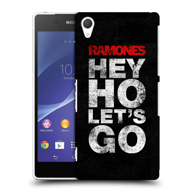Plastové pouzdro na mobil Sony Xperia Z2 D6503 HEAD CASE The Ramones - HEY HO LET´S GO (Plastový kryt či obal na mobilní telefon s oficiálním licencovaným motivem The Ramones pro Sony Xperia Z2)