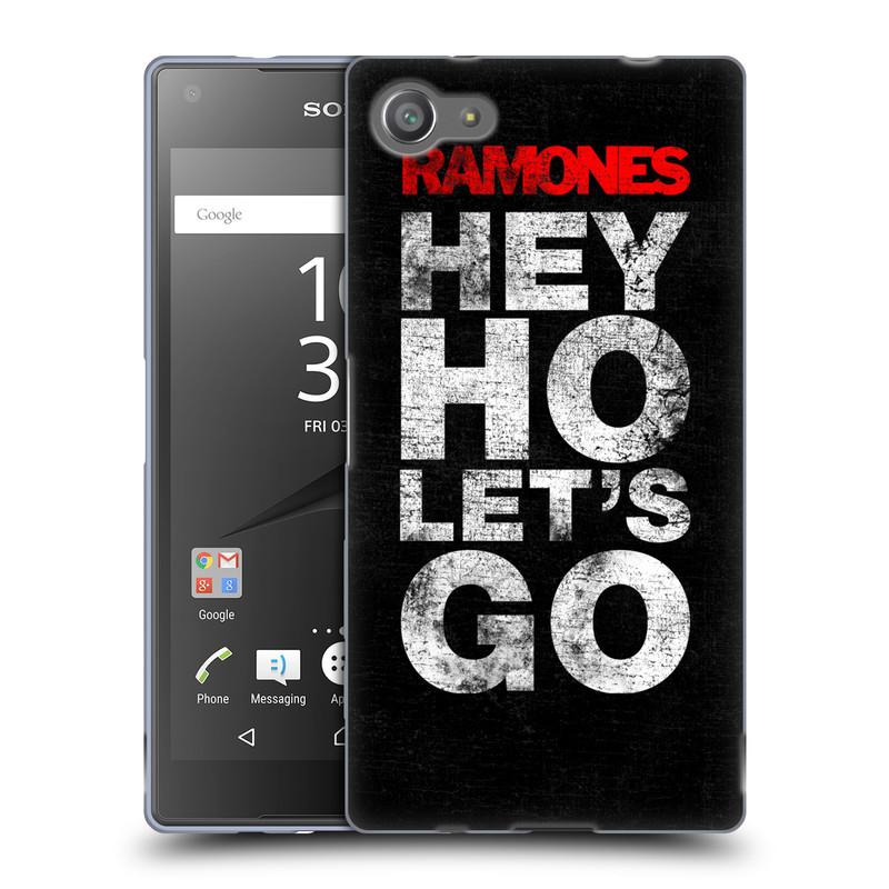 Silikonové pouzdro na mobil Sony Xperia Z5 Compact HEAD CASE The Ramones - HEY HO LET´S GO (Silikonový kryt či obal na mobilní telefon s oficiálním licencovaným motivem The Ramones pro Sony Xperia Z5 Compact E5823)