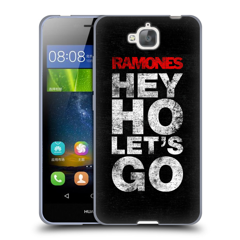 Silikonové pouzdro na mobil Huawei Y6 Pro Dual Sim HEAD CASE The Ramones - HEY HO LET´S GO (Silikonový kryt či obal na mobilní telefon s oficiálním licencovaným motivem The Ramones pro Huawei Y6 Pro / Huawei Y6 Pro Dual SIM / Huawei Enjoy 5)