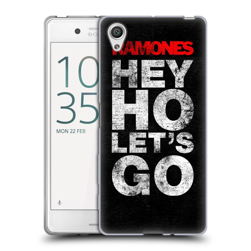 Silikonové pouzdro na mobil Sony Xperia X HEAD CASE The Ramones - HEY HO LET´S GO (Silikonový kryt či obal na mobilní telefon s oficiálním licencovaným motivem The Ramones pro Sony Xperia X F5121 / Dual SIM F5122)